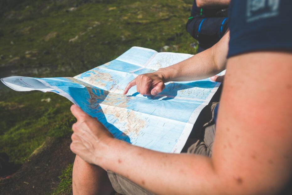 Huttentocht kaart lezen