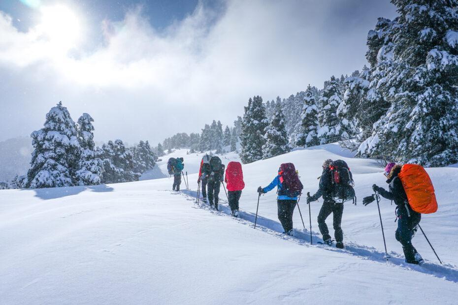 NKBV reizen sneeuwschoenwandelen
