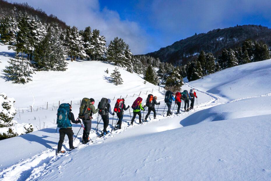 Sneeuwschoenwandelen in de Alpen